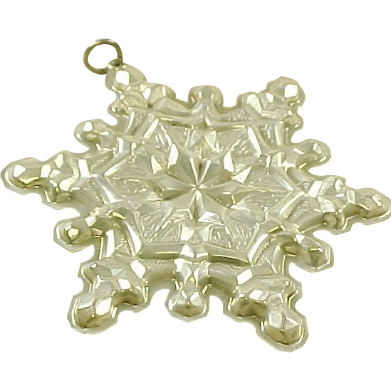 Vintage Sterling Silver Gorham Snowflake Ornament / Pendant 1971