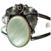 NAVAJO Sterling Mother Of Pearl Cuff Bracelet Midge Graham