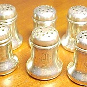 Sterling Vintage Set Of Four Gorham # A 3135 Individual Salt Shakers Mono P.T.