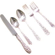 Sterling Silver Stieff REPOUSSE 5 Piece Place Setting