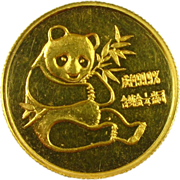 1982 1/4 oz .999 Gold Panda Rare China Coin First Year
