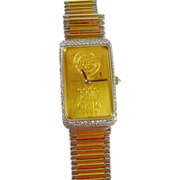 18k Gold Corum Mens Watch with Diamond Encrusted Bezel