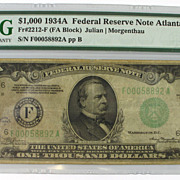 1934 $1000 Federal Reserve Note, Atlanta