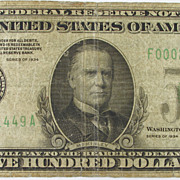 1934 $500 Federal Reserve Note, Atlanta