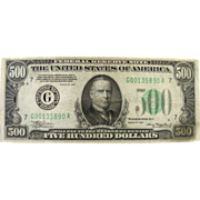 1934 $500 Federal Reserve Note, Chicago