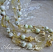 Sweet Lemonade: 2-Strand Lemon Chrysoprase, Citrine, Gold-Filled & Vermeil Necklace