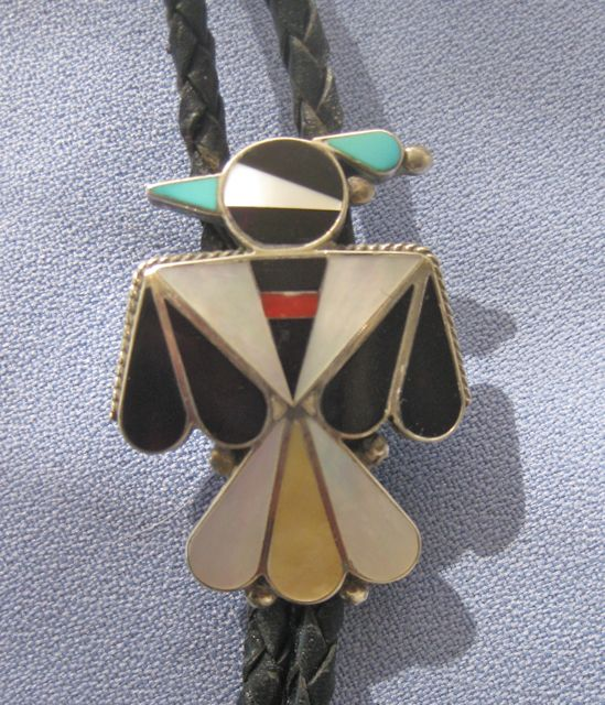ZUNI Thunderbird Multi Gem Sterling Bola