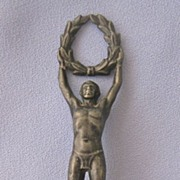 Victorious Athlete - Figural Laurel Wreath - Wax Seal