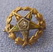 Petite 10K Diamond Enamel Eastern Star Pin
