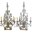 1920s European 36&quot; Girandole Crystal Table Lamps