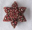 Victorian Bohemian Garnet Layered Star Pin