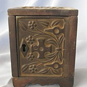 J & E Stevens Toy Cast Iron Safe/Bank - 1897