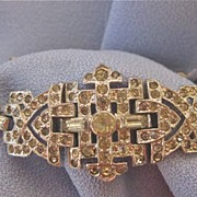 1930s DECO Trifari KTF Paste Bracelet  - Signed