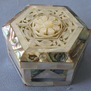 Fancy Mother of Pearl Trinket Box