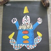 1959 Herbert LEUPIN Abbott Lab Clown Poster - Potent Optilets