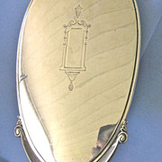 DECO Era Sterling Long Handle Hand Mirror