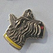 1930s Large SCOTTIE Dog Metal Pin