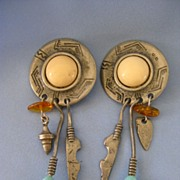 Large TRIBAL Inspired Dangling Earrings