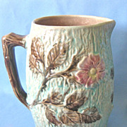 Antique MAJOLICA Pitcher - 6-1/2&quot; high