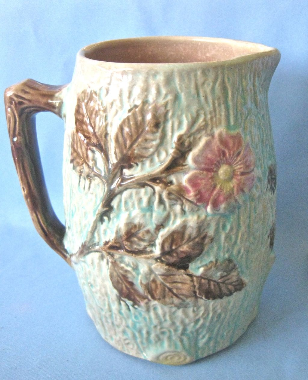 "Antique MAJOLICA Pitcher - 6-1/2"" high"