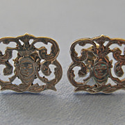 Vintage Petite Fancy Post Earrings - Italy -FACES!