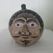 Old Mexican Tonala FACE Pottery Bank