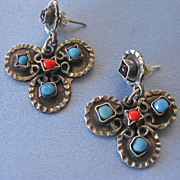 Mexican MATL Inspired Sterling Dangling Earrings