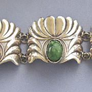 Large Chunky Pre Eagle Sterling MEXICAN Bracelet