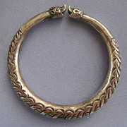 Vintage Sterling CHINESE Dragon Bangle