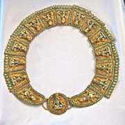 SALE Very Old Massive TIBETAN  Coral Turquoise Buddha Collar