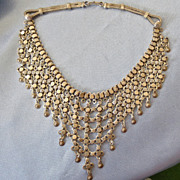 Ethnic Sterling Drippy Collar Necklace
