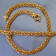 DeLuxe Vermeil BYZANTINE Bracelet/Necklace - Italy