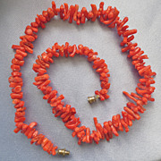 Vintage Natural Branch Coral Necklace