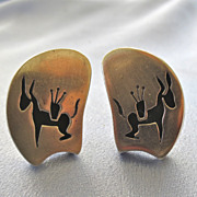 Sterling MId Century Mexican Shadow Box Cufflinks