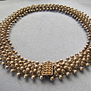 SALE Sterling ETRUSCAN Collar Necklace -82gr!