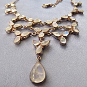 Luminous Sterling MOONSTONE Festoon Necklace