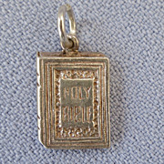 Vintage Holy Bible Sterling Charm