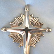 SALE Gorham Sterling Radiant Cross Tree Topper/Alter Piece