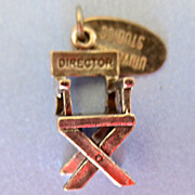Sterling Director's Chair Charm
