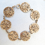 Beach time Sterling Sand Dollar Linked Bracelet