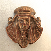 Egyptian Revival Figural Brass Pin