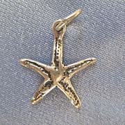 Sterling Beach Time Starfish Charm