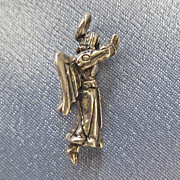Sterling Praying Ascending Angel Charm