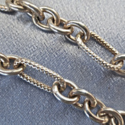 SALE Chunky Sterling Textured Open Link Chain