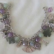 SALE One-of-A-Kind CHARMING Charm Bracelet - Silver & Gemstones