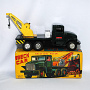 Haji Wreck Car with Friction Motornear mint in box