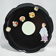 Limoges Haviland plate � Oriental man with lanterns