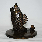 Cast metal Fish Pen holder