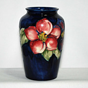 Moorcroft vase  clematis