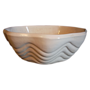 Manley Hand Thrown Clam Shape Pottery Bowl